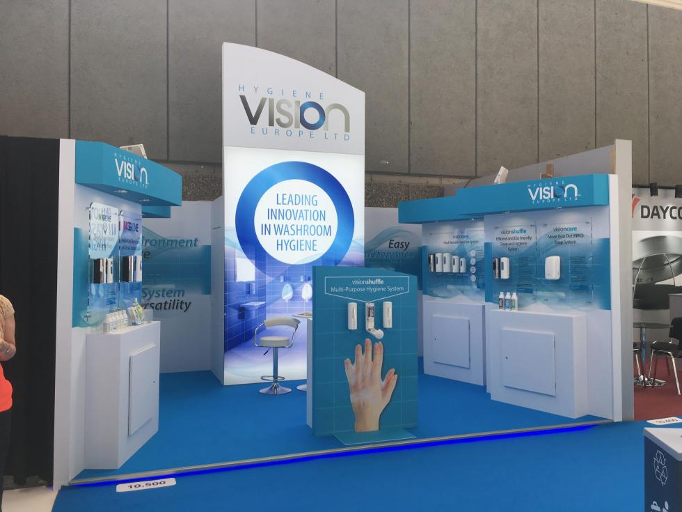 Hygiene Vision custom exhibition stand