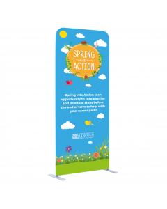 1m Straight Fabric Display Stand