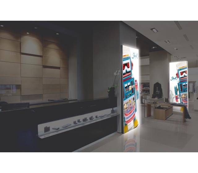 Vector LED Lightbox Wall Mounted 75mm