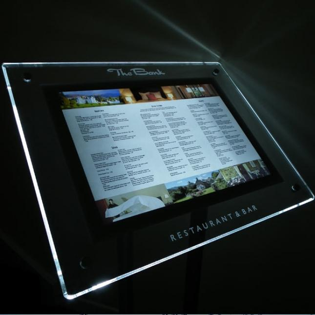 A3 Landscape Freestanding Menu Display