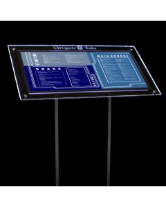 Freestanding Illuminated Outdoor Menu Display