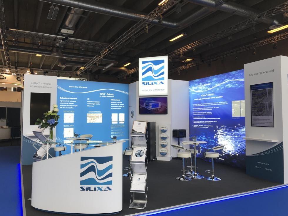Custom exhibition stand Silixa