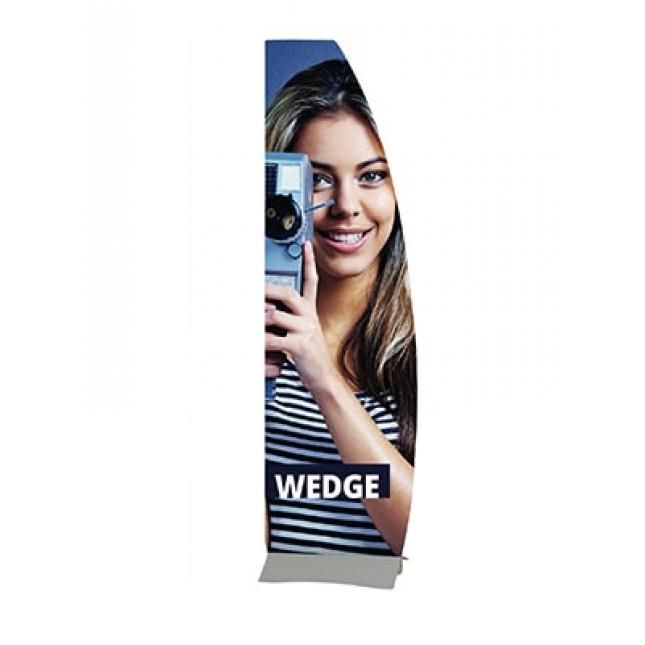 Wedge Rigid Banner Custom Shape