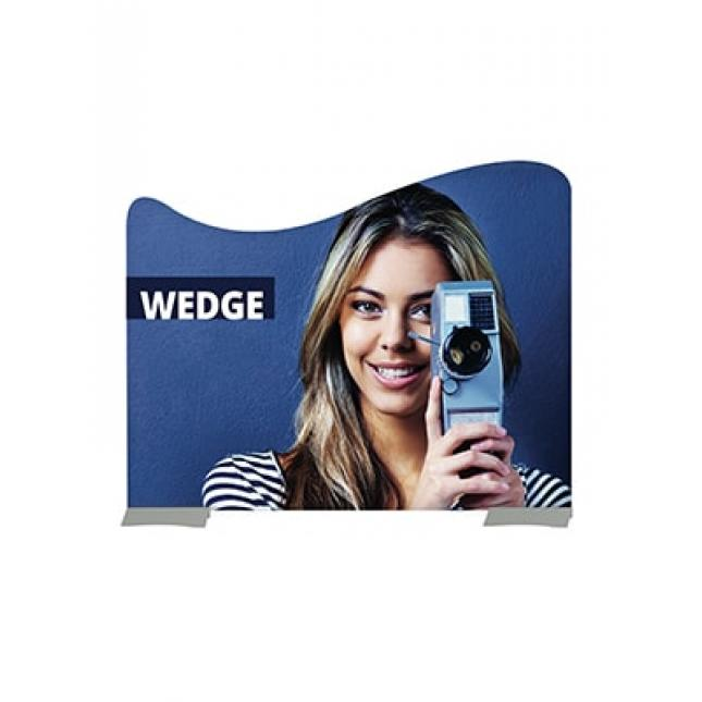 Large rigid wedge banner stand