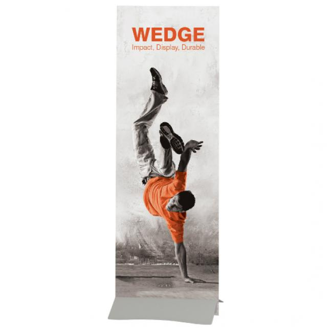 Wedge rigid banner with standard foamex graphic