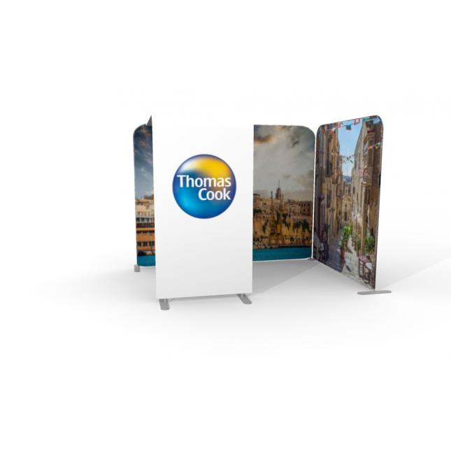 3m x 2 with arch fabric exhibition stand