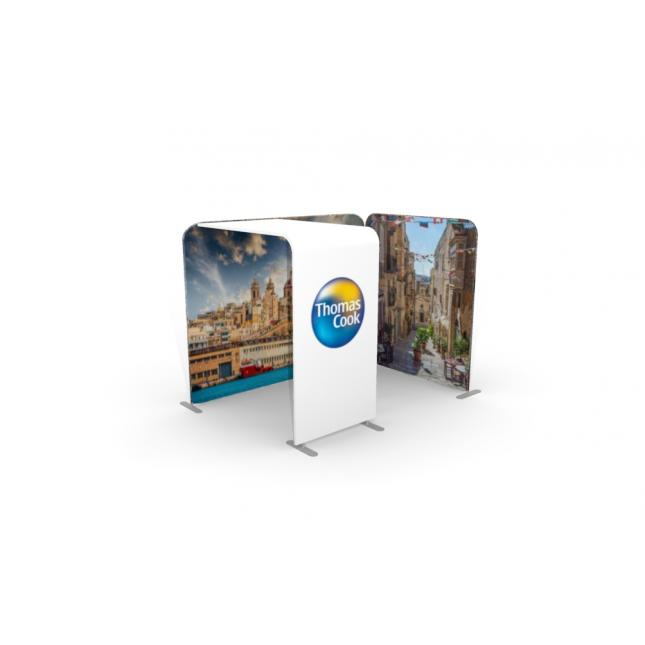 3m x 2 with arch fabric stand