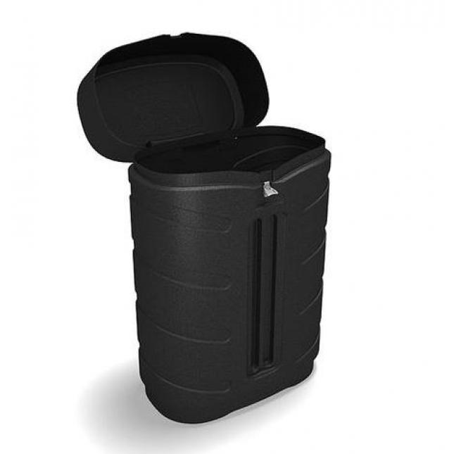 wheeled case without fabric graphic sleeve