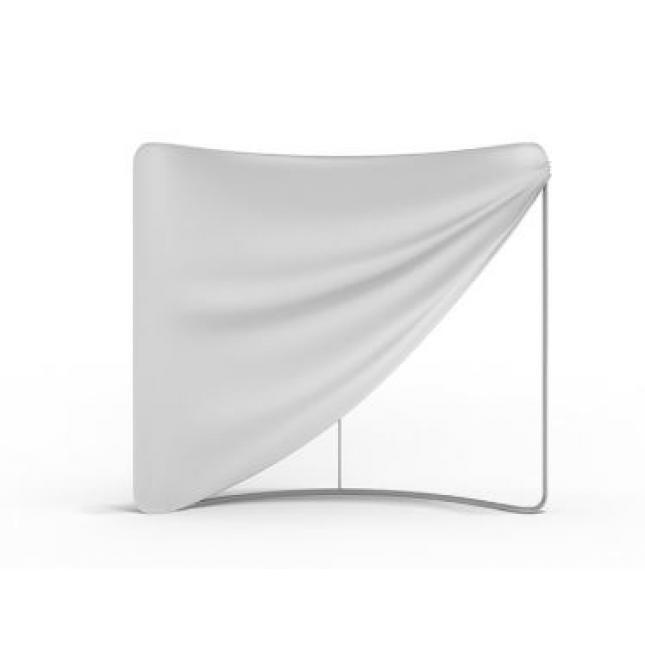 Fabric graphic over framework