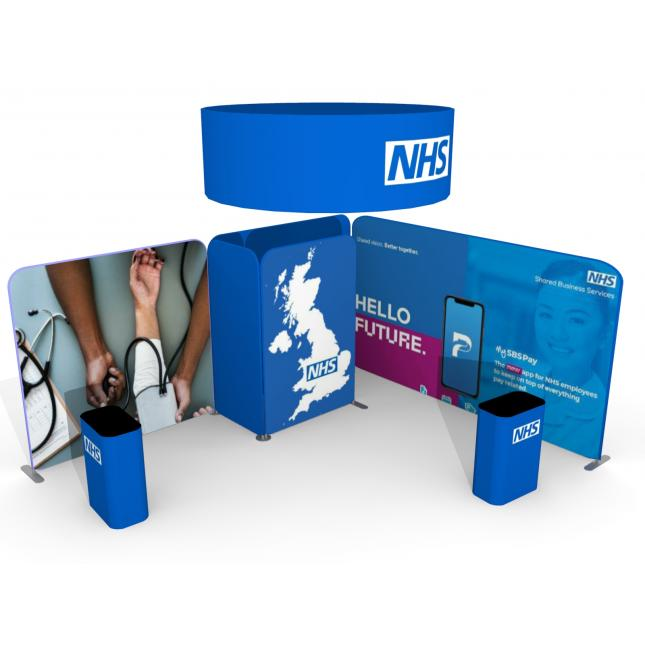 5m x 4m fabric modular exhibition display stand