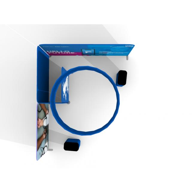 Plan view 5m x 4m fabric modular exhibition display stand