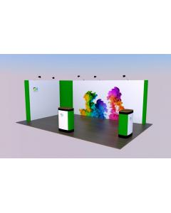 3 x 5 L Shaped Pop Up Exhibition Stand