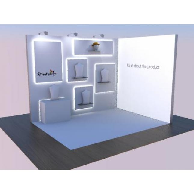 Display Stand Hire Uk : 3m x 4m exhibition stand hire hired exhibition stands uk gh display