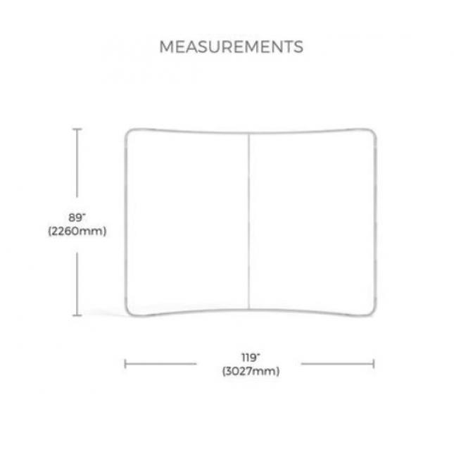 Dimensions for 3m curve plus exhibition stand