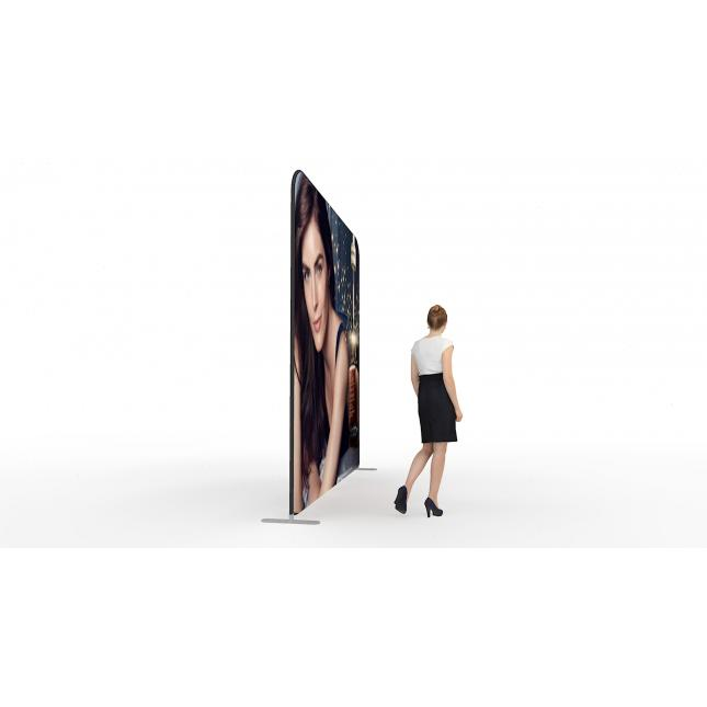 3m x 3m straight fabric exhibition stand side view
