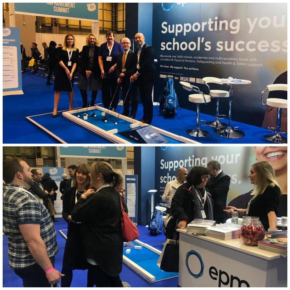 Attracting visitors on the EPM Exhibition Stand