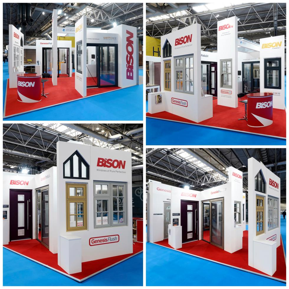 National homebuilding exhibition stand collage