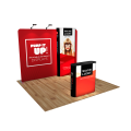 3m Fabric Exhibition Stand with Wavelight Air Wall & Podium option