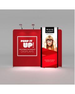 3m Fabric Exhibition Stand with Wavelight Displays