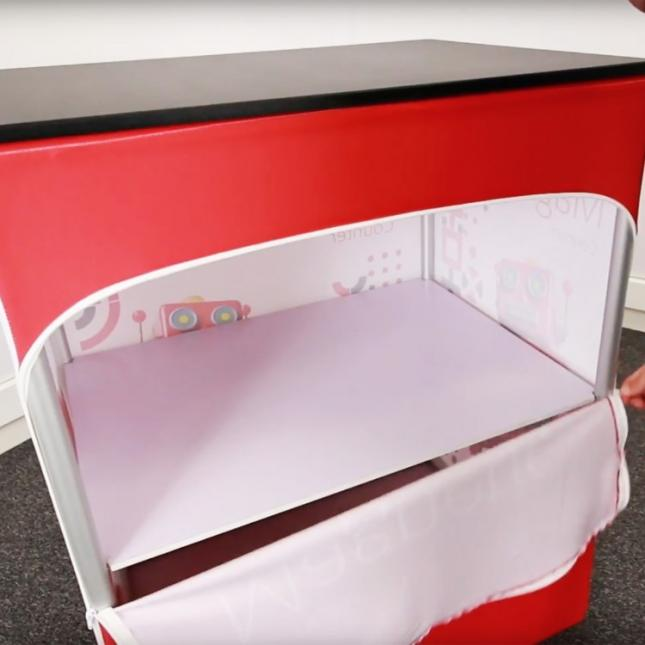 Under counter storage for Formulate Magnetic Counter