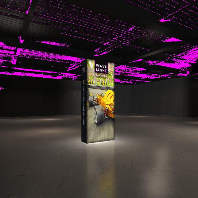 1m wide wavelight casonara lightbox display