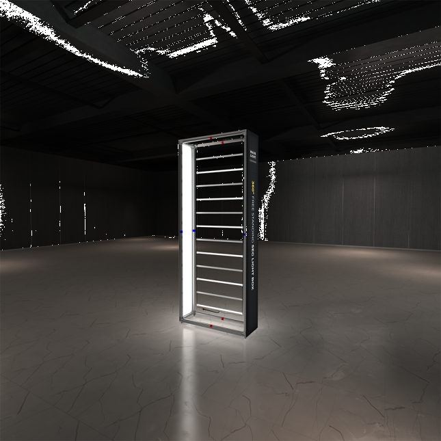 1m wide wavelight casonara lightbox display without graphic