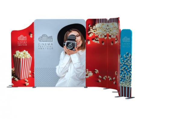 Modulate fabric display stands