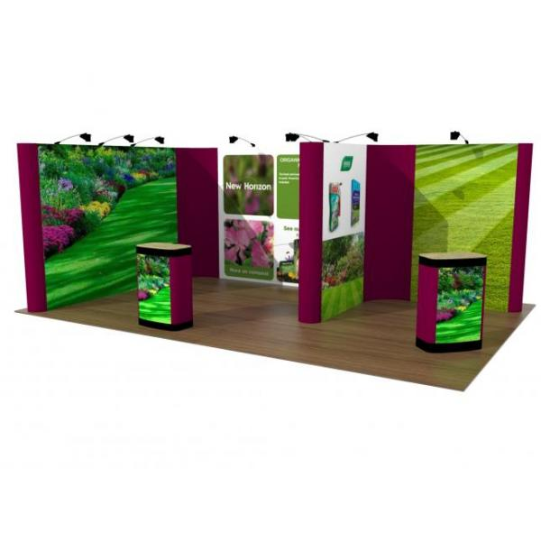 Linked pop up exhibition stand