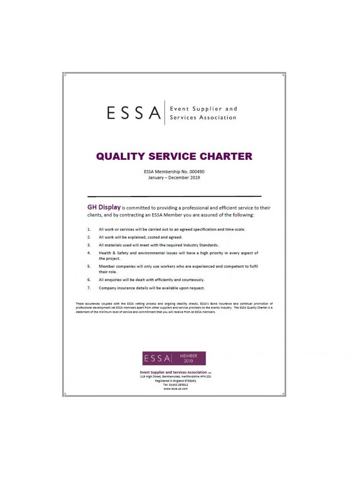 ESSA Certificate 2019