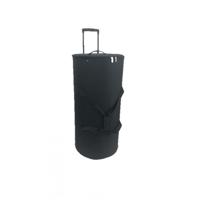 Round wheeled trolley case