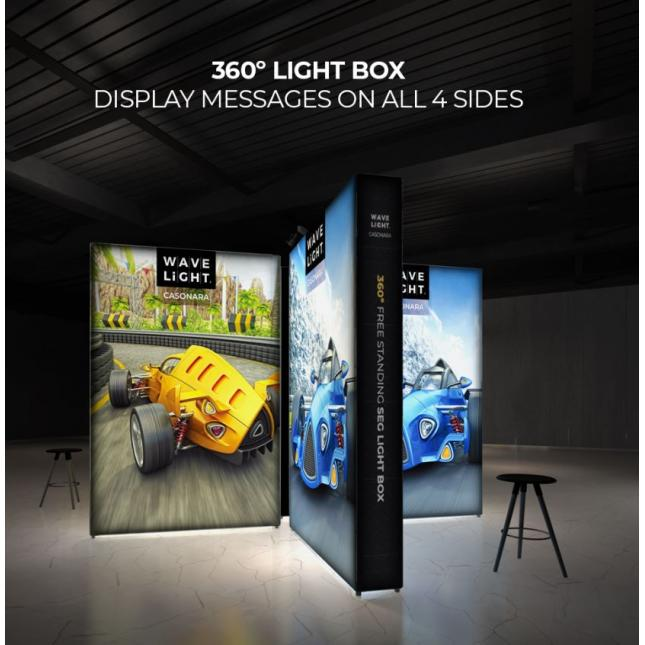 Full range of Casonara Wavelight Exhibition Stands