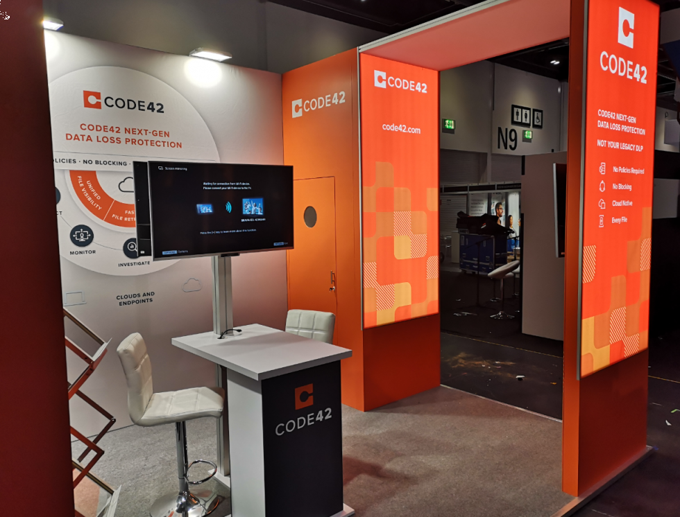 Cloud and Cyber Bespoke Exhibition Stands