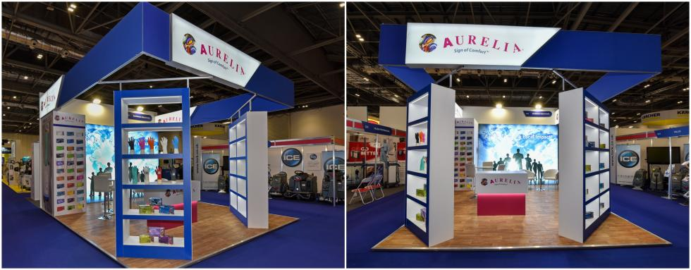 Aurelia Gloves Custom Exhibition Stand