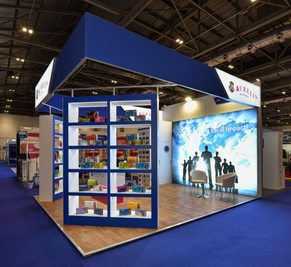 Aurelia Gloves Bespoke Exhibition Stand