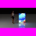 Mini portable lightbox display wall