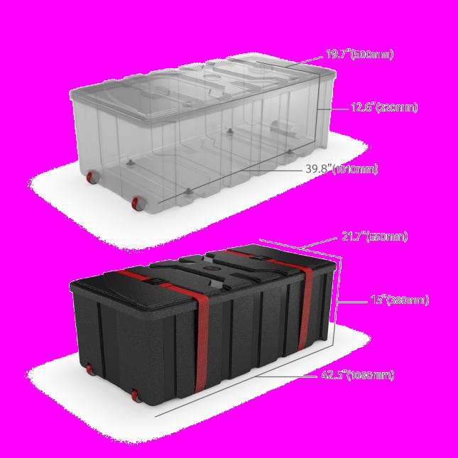 Large exhibition case dimensions