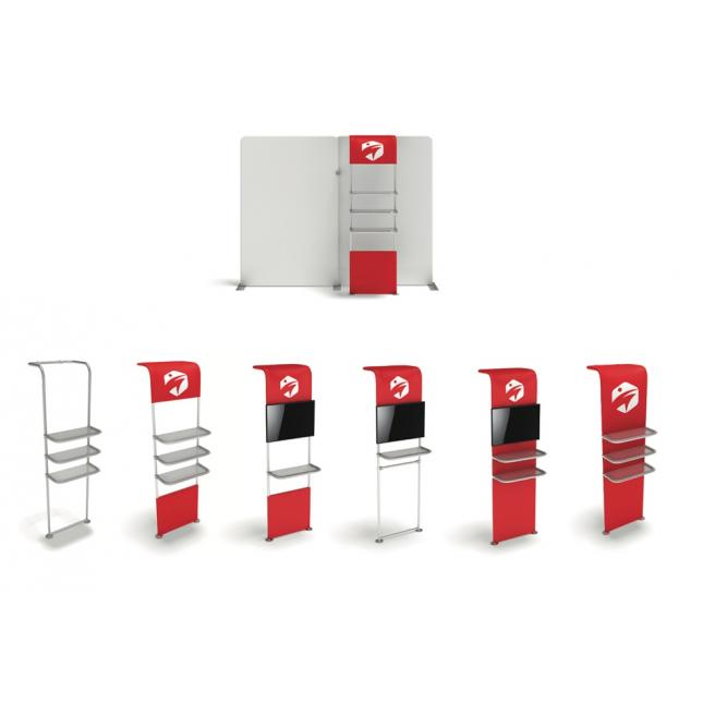 Versatile product display unit for fabric displays