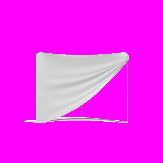 Fabric graphic installation on aluminium frame