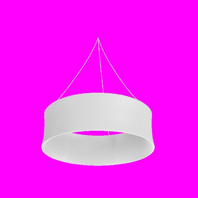 Circle hanging structure plain white