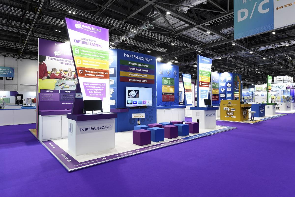 Netsupport bespoke exhibition stand