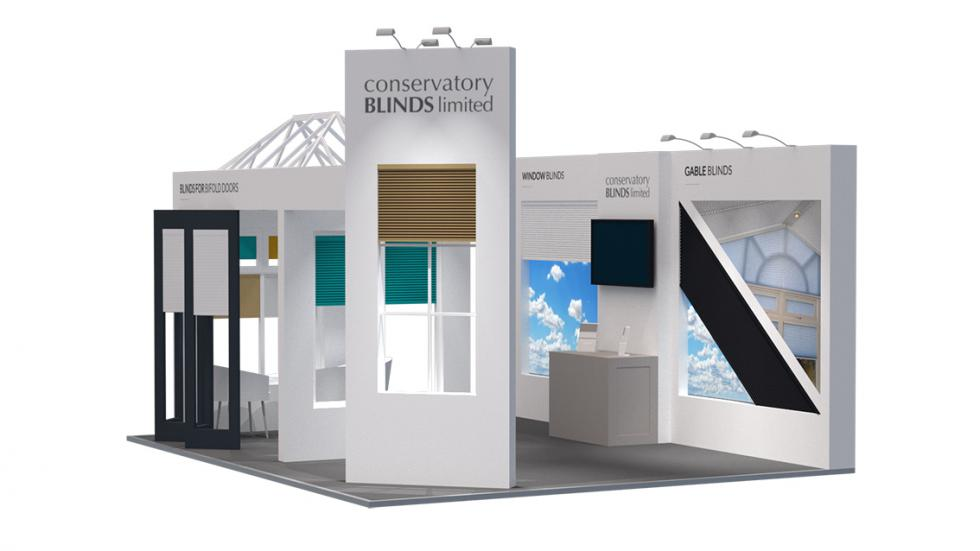 Conservatory Blinds Exhibition Stand Design