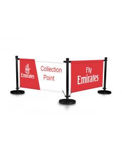 Economy Black Cafe Barrier Kit 2