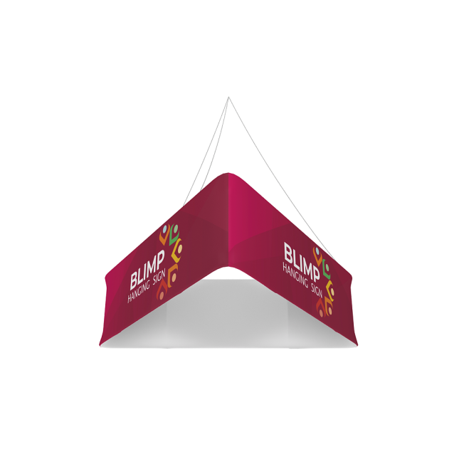 Triangular Hanging Banner Structure
