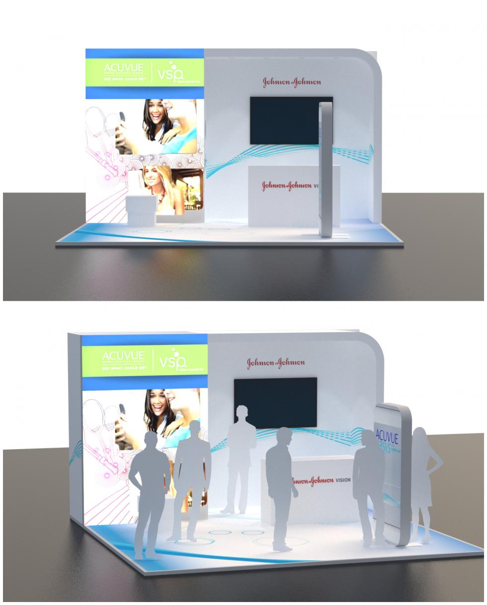 Johnson and Johnson Acuvue exhibition stand