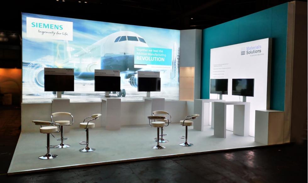 Siemens Aerospace exhibition stand