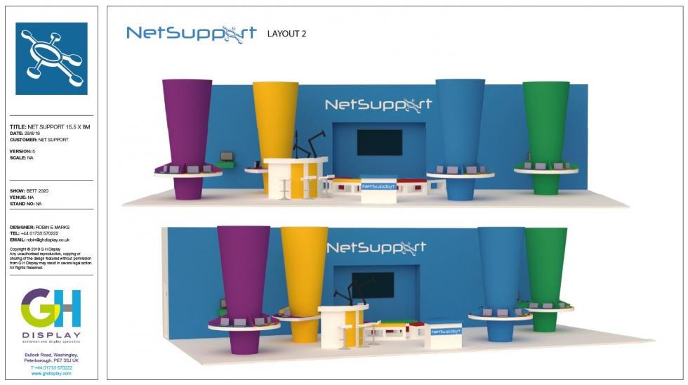 Exhibition stand design for NetSupport
