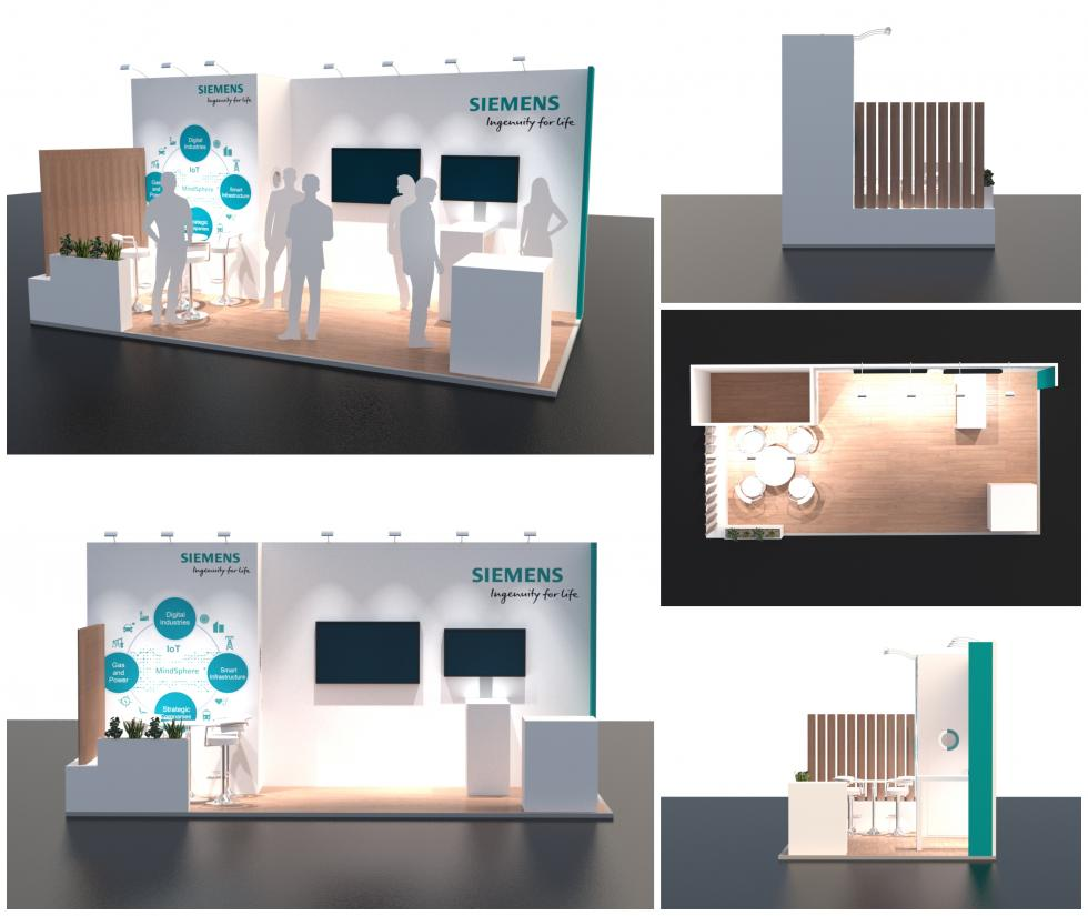 Siemens mobility exhibition stand design