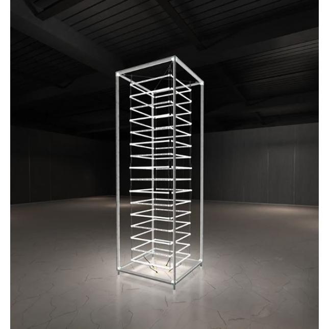 Assembled framework for lightbox tower