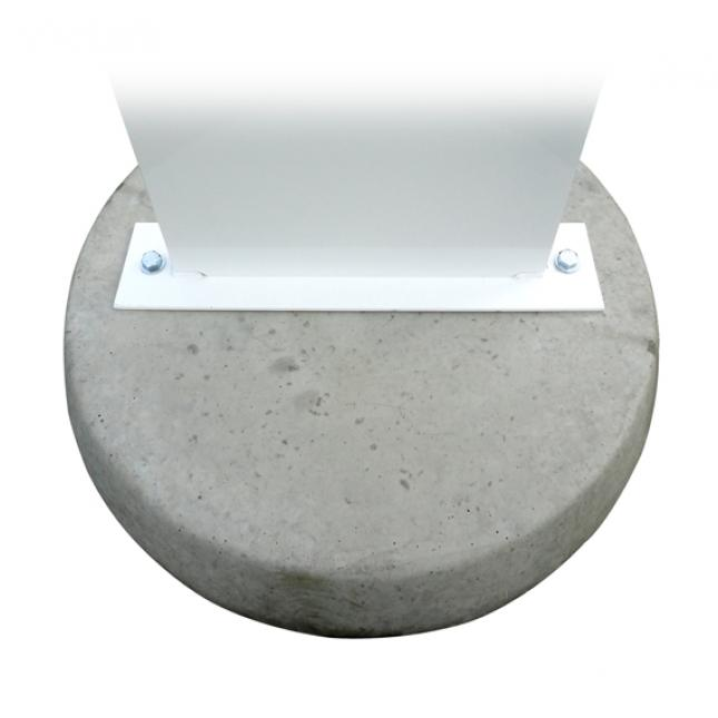 Concrete Base for Forecourt Sign