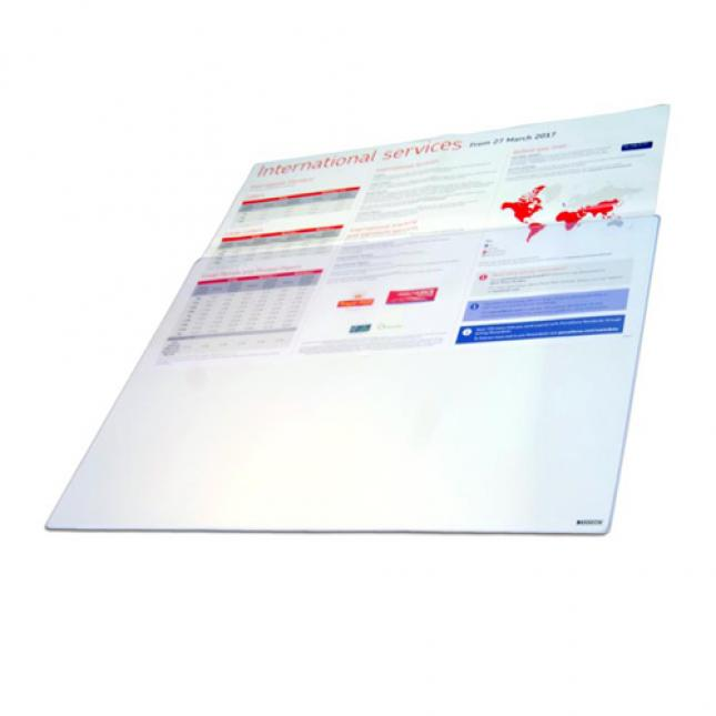 A2 Counter Mat Poster Holder with clear boarder